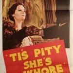 tis pity she's a whore australian daybill poster
