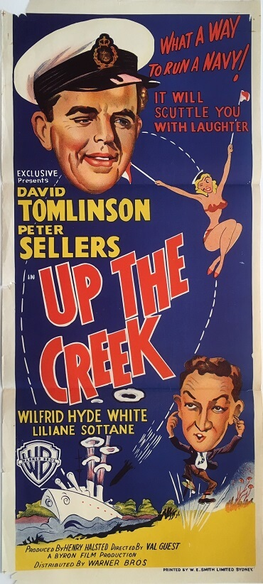 up the creek australian daybill poster 1958