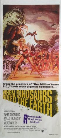 when dinosaurs ruled the earth australian daybill poster 1970 Victoria Vetri