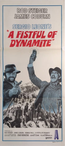 a fistful of dynamite australian daybill poster james coburn sergio leone duck, you sucker