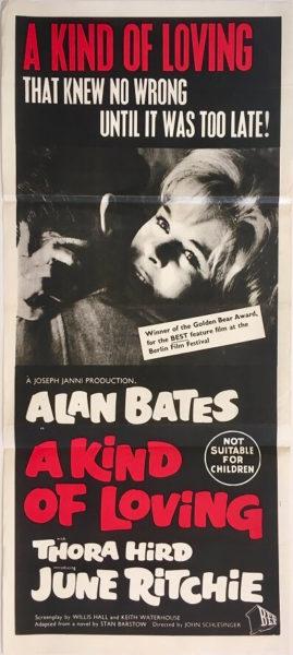 a kind of loving australian daybill poster alan bates 1962