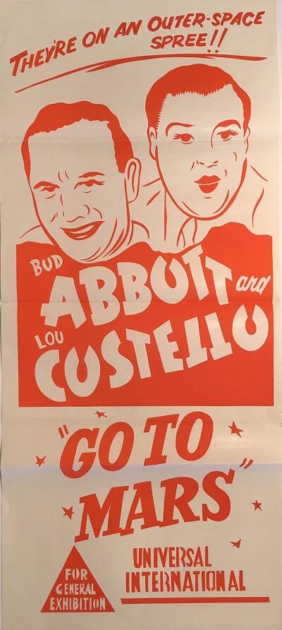 abbott and costello go to mars australian daybill poster 1953