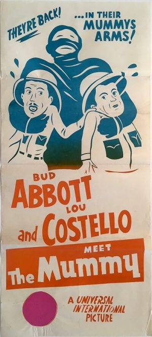 abbott and costello meet the mummy australian daybill poster 1953