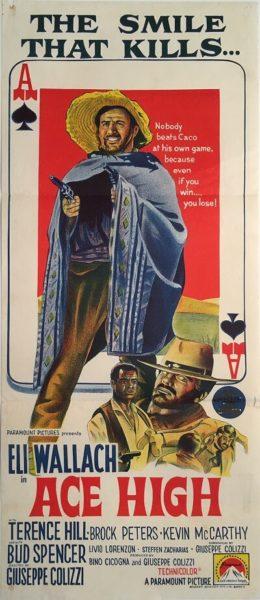 ace high australian daybill poster western eli wallach 1968
