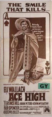 ace high australian daybill poster western eli wallach