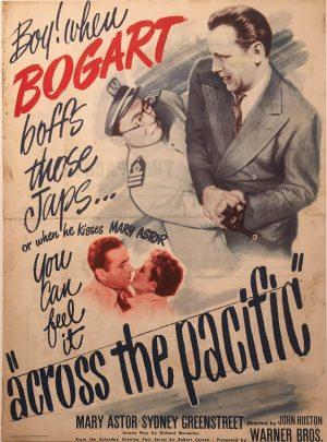 across the pacific us herald 1942 Humphrey Bogart front