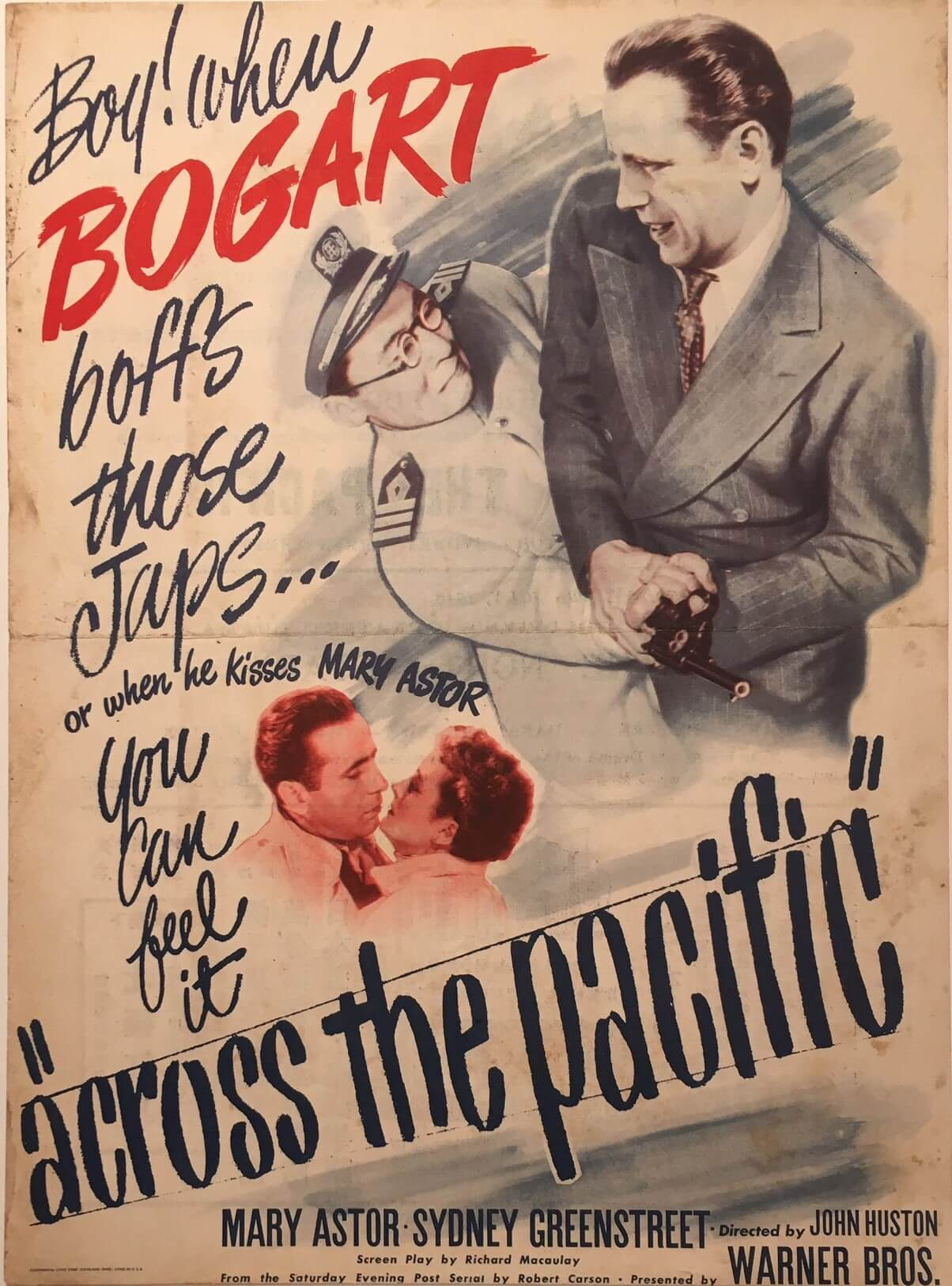 across the pacific us herald 1942 Humphrey Bogart front