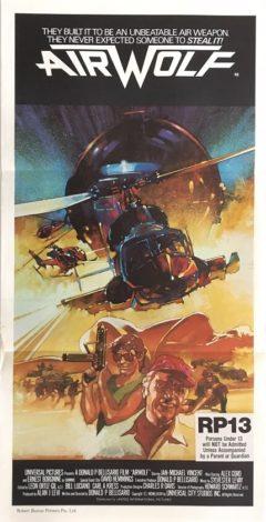 airwolf australian daybill poster