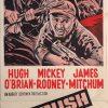 ambush bay australian and NZ daybill war movie poster staring hugh obrian, mickey rooney and james mitchum