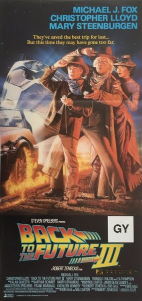 back to the future III 3 australian daybill poster 1990