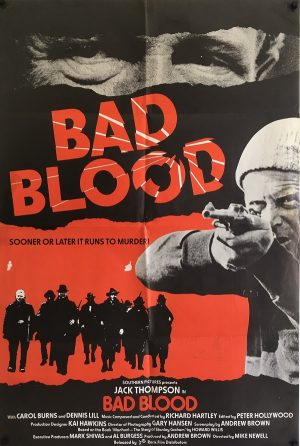 bad blood uk one sheet new zealand used poster 1981