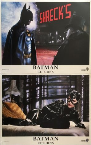 batman returns US lobby card set 1992 Michael Keaton, Danny DeVito, Michelle Pfeiffer 2
