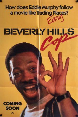 beverly hills cop UK one sheet advance poster 1984