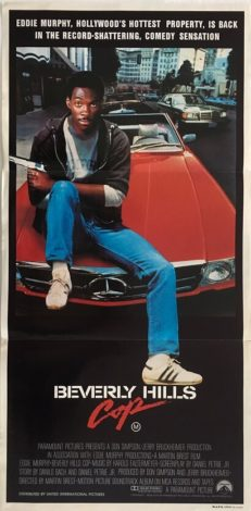 beverly hills cop australian daybill poster 1984