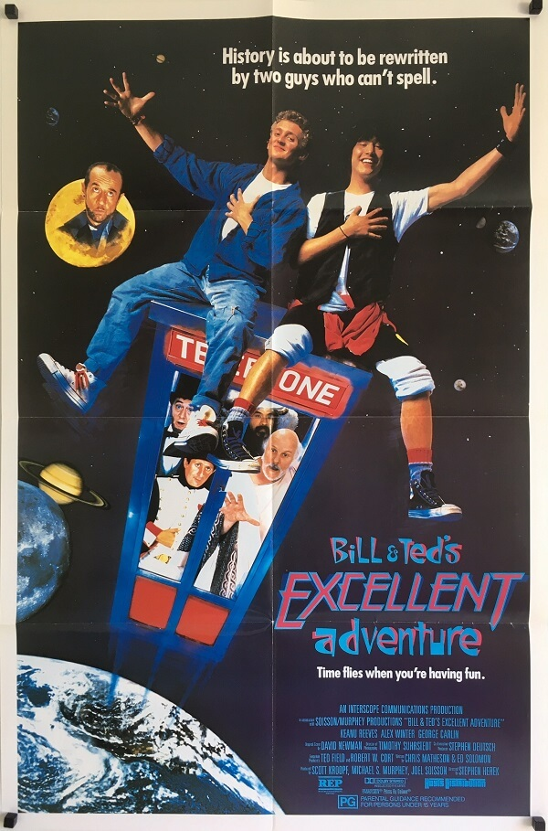bill and teds excellent adventure australian one sheet poster 1989
