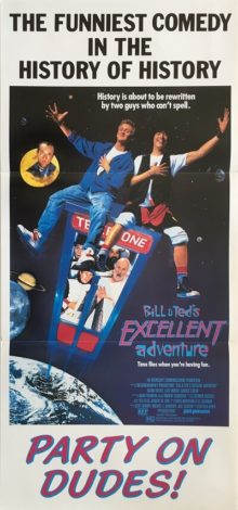 bill & teds excellent adventure daybill poster