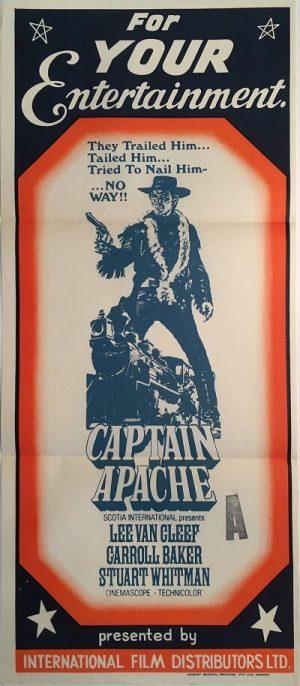 captain apache australian stock daybill poster lee van cleef
