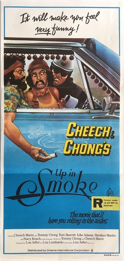 cheech and chongs up in smoke australian daybill poster