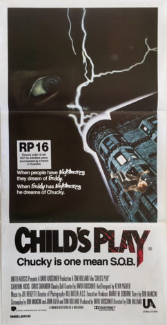 childs play australian daybill poster 1988