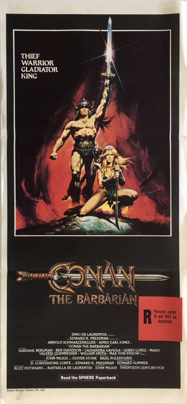 conan the barbarian australian daybill poster 1982
