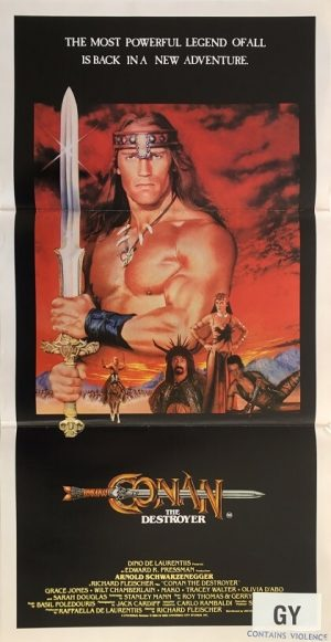 conan the destroyer australian daybill poster 1984
