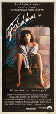 flashdance australian daybill poster 1983