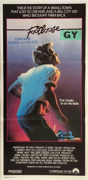 footlooose australian daybill poster 1984