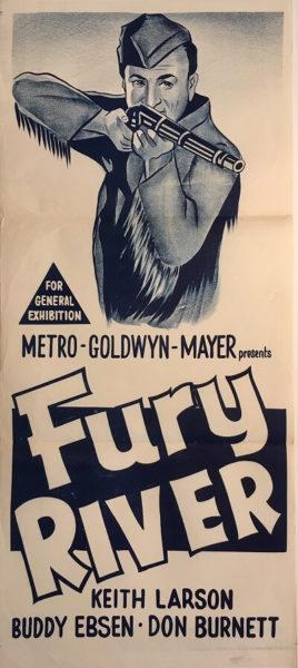 fury river australian daybill poster western keith larson buddy ebsen