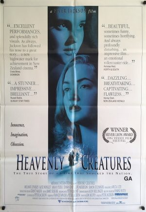 heavenly creatures new zealand one sheet poster 1994 peter jackson