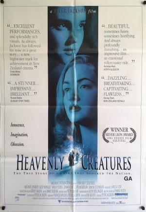 heavenly creatures new zealand one sheet poster 1994 peter jackson