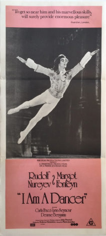 i am a dancer daybill poster ballet rudolf nureyev & margot foteyn