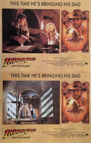 indiana jones and the last crusade lobby card set 1989 harrison ford sean connery 2