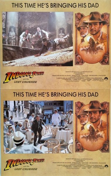 indiana jones and the last crusade lobby card set 1989 harrison ford sean connery