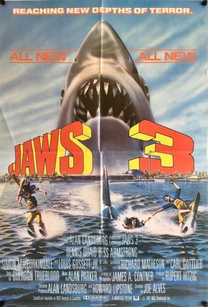 jaws 3 UK one sheet poster 1983