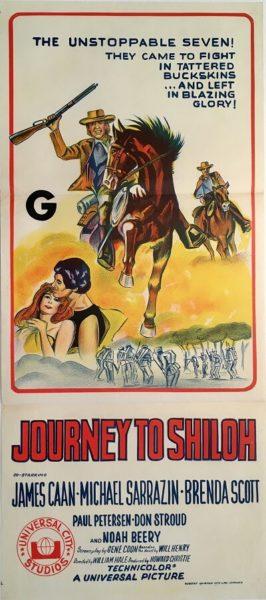 journey to shiloh australian daybill poster james caan