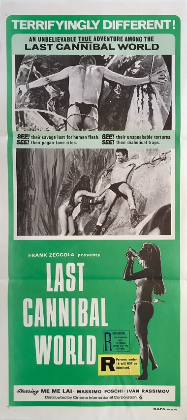 last cannibal world australian daybill movie poster frank zeccola