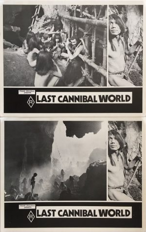 last cannibal world lobby card set frank zeccola 2