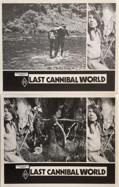 last cannibal world lobby card set frank zeccola 4