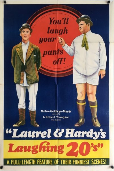 laurel & hardy's laughing 20's australian one sheet poster 1965 (1)