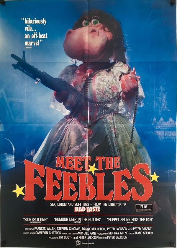 meet the feebles new zealand one sheet movie poster peter jackson