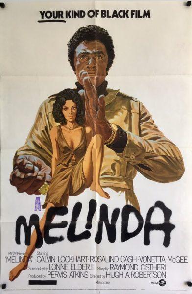 melinda us one sheet poster 1972 Calvin Lockhart Rosalind Cash
