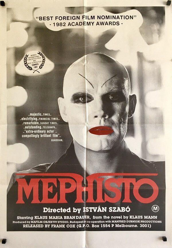 mephisto australian one sheet poster 1981