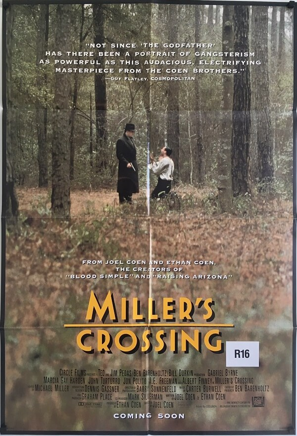 miller's crossing advance international one sheet movie poster