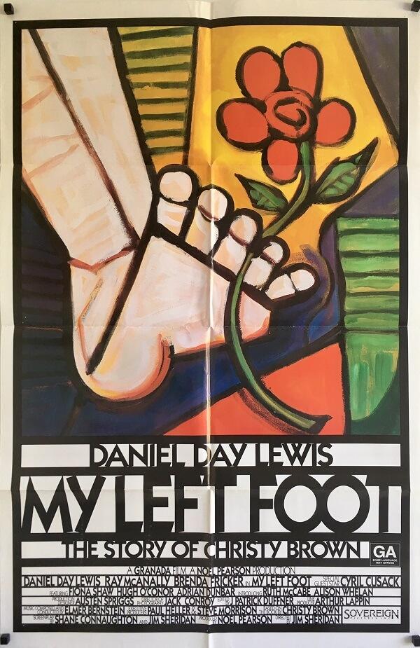 my left foot international one sheet movie poster daniel day lewis