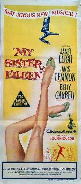 my sister eileen australian daybill poster jack lemmon janet leigh