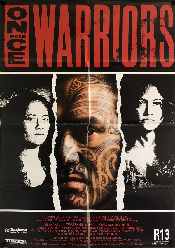 once were warriors new zealand one sheet poster 1994