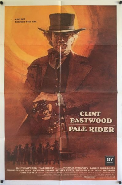 pale rider international one sheet poster 1985 clint eastwood western