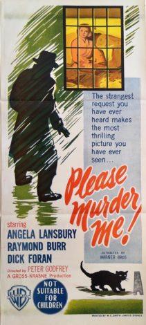 please murder me australian daybill poster angela lansbury 1956