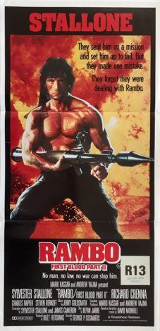 rambo first blood part 2 australain daybill poster 1985
