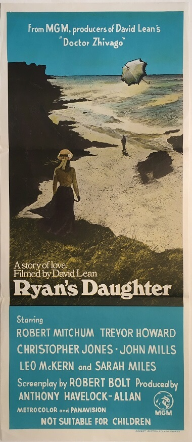 ryans daughter australian daybill poster david lean john mills